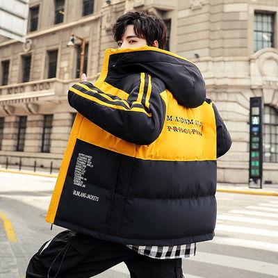 棉衣男2021冬季新款韩版潮流连帽棉袄加厚保暖帅气外套