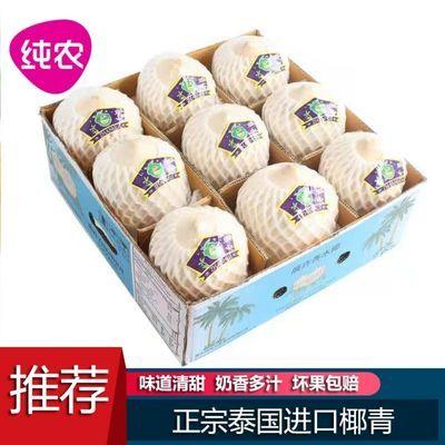泰国进口椰青9个装椰子新鲜去皮青香水青椰送礼应季孕妇水果整箱