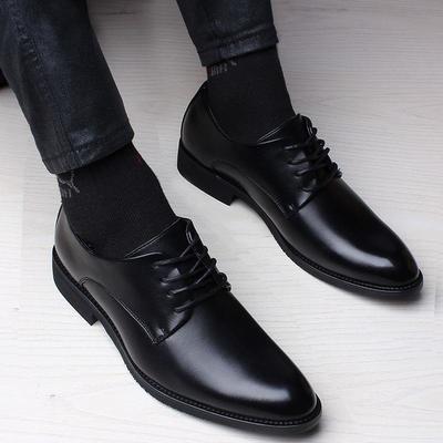 2020新品男士商务皮鞋男英伦系带男鞋子青年时尚正装鞋简约百搭