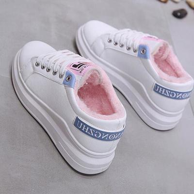 冬季加绒运动女鞋棉鞋小白鞋韩版百搭学生保暖大棉鞋冬鞋跑步秋鞋