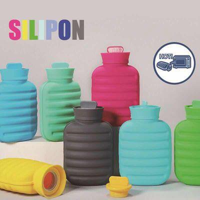 日本silipon 硅胶热水袋注水敷肚子暖水袋灌水式加厚防爆暖宫护腰