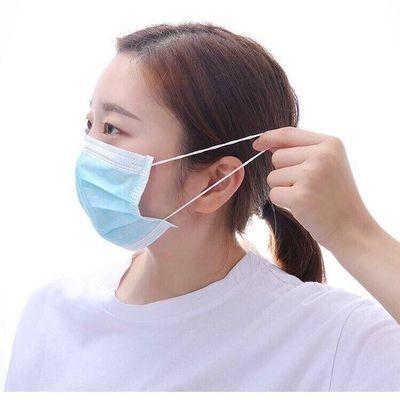 50只装口罩三层含熔喷布一次性防护防尘透气薄款学生成人通用男女