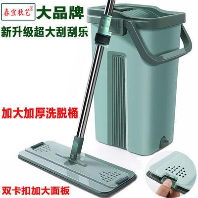 超大号刮刮乐平板拖把免手洗家用懒人干湿两用旋转墩布桶拖地神器