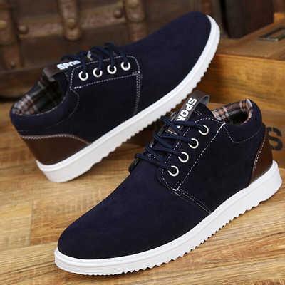 2020秋季新款英伦工装男士休闲低帮鞋 学生透气板鞋运动男靴
