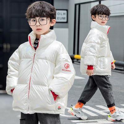 新款儿童羽绒服炫彩面包服加厚外套冬季韩版童装亮面短款男童女童
