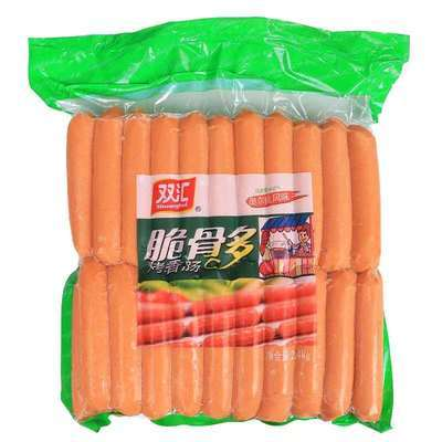 双汇奥尔良脆骨肠台湾热狗京式烤肠烧烤油炸微波手抓饼网红热狗肠