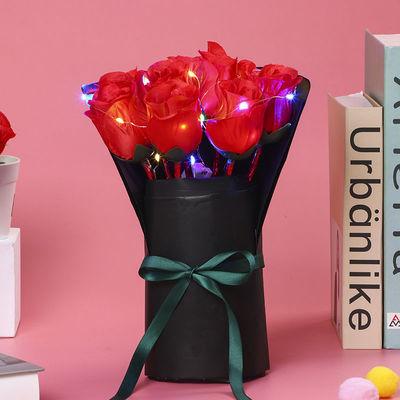 70368/韩版文具玫瑰花笔教师节礼品少女心文具个性彩灯玫瑰花圆珠笔