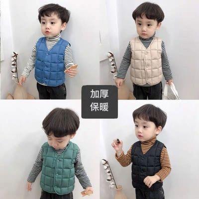 儿童羽绒棉双面穿马甲2021新款秋冬季中小童轻薄坎肩洋气时尚背心