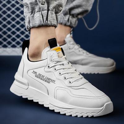 春季男鞋2021新款潮流小白板鞋男士韩版百搭休闲跑步运动鞋子学生