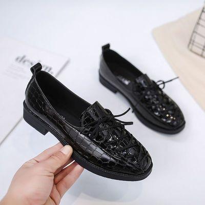 2021春秋新款英伦风小皮鞋女复古休闲百搭单鞋工作鞋学生平底女鞋