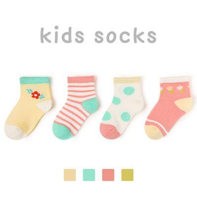 儿童袜子春夏款薄款男女童网眼袜卡通舒适透气宝宝学生短袜