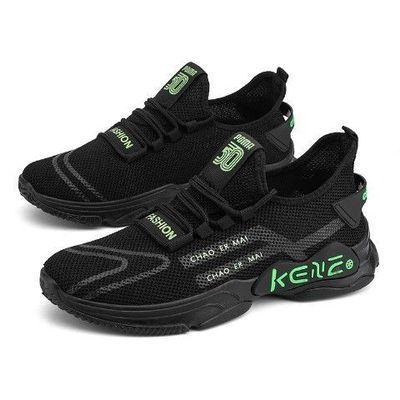 春季新款透气轻便学生运动鞋休闲舒适韩版男士时尚跑步单鞋