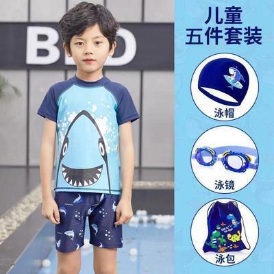 48552/新款男童泳衣套装男童小童儿童游泳衣游泳男孩速干泳装套装中大童