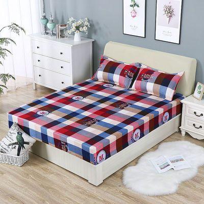 74765/防滑加厚床笠单件磨毛100%不褪色通用席梦思床垫保护套宿舍单床罩