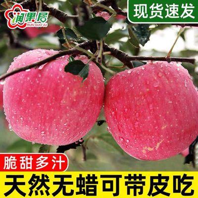 陕西洛川正宗红富士丑苹果脆甜当季新鲜水果包甜10斤批发整箱包邮