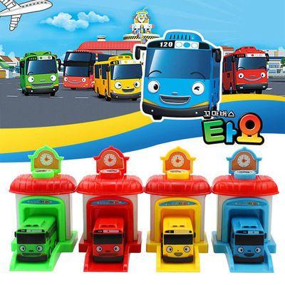 89611/韩国泰路校车公交车巴士小孩玩具太友弹射车停车场回力小汽车