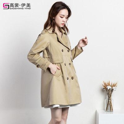 8415/风衣女中长款2021春秋季高档洋气新款韩版休闲显瘦矮小个子外套