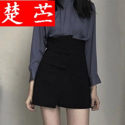 59703/高腰A字半身裙包臀裙新款前后两穿设计感短裙女不规则防走光裙裤