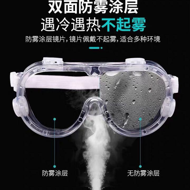 四珠透气高清防护眼罩防尘防风防飞沫飞溅防护眼镜透明隔离护目镜