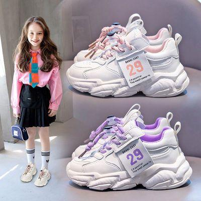 班妮宝贝女童运动鞋2021秋季新款女孩软底老爹鞋中大童韩版百搭潮