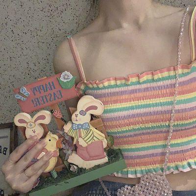 65204/2021年夏季司马克小吊带背心女士打底衫短款背心女衫修身性感内搭
