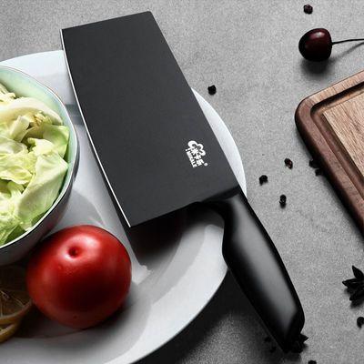 黑色锋利不锈钢菜刀全钢家用切菜刀切片刀切肉片厨房刀具切水果刀
