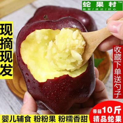 天水花牛苹果老人宝宝婴儿辅食刮泥蛇果粉面水果红蛇果3斤包邮