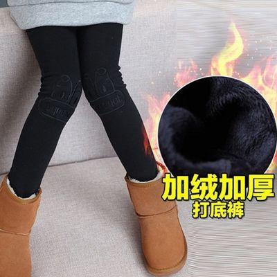 75496/女童冬季加绒加厚打底裤中大童外穿韩版洋气一条过冬儿童裤子