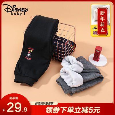 【加绒款】迪士尼2020男童加绒裤子不倒绒儿童宝宝裤子加绒长裤