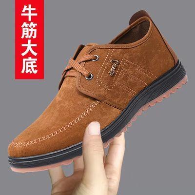 2021牛筋底老北京布鞋男工作鞋防滑休闲鞋老人鞋爸爸鞋棉鞋健步鞋
