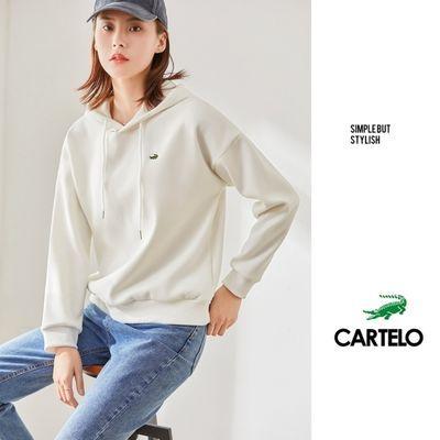 正品卡帝乐鳄鱼男女同款卫衣运动套头衫2021年春款最新款