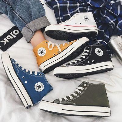 5651/2021新款高帮帆布鞋女学生韩版街拍万年经典款百搭复古1970s板鞋