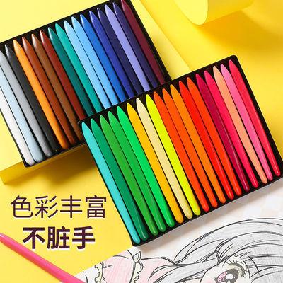 11721/三角塑料儿童蜡笔36色不脏手安全无毒可水洗儿童画画笔宝宝涂鸦笔