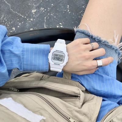 独角兽手表少女生ins风学生防水可爱电子表韩版简约网红抖音手表
