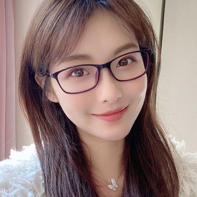 70360/近视眼镜女防蓝光抗辐射日常款平光护眼可配有度数显脸小女士方框