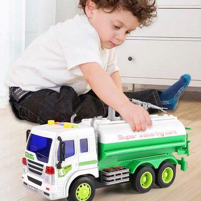 91166/儿童洒水车男孩玩具仿真可洒水超大仿真宝宝喷水大号模型工程汽车