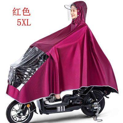 雨衣摩托车电动车雨披男女生雨披成人加厚骑行单人雨披透明双帽檐【4月27日发完】