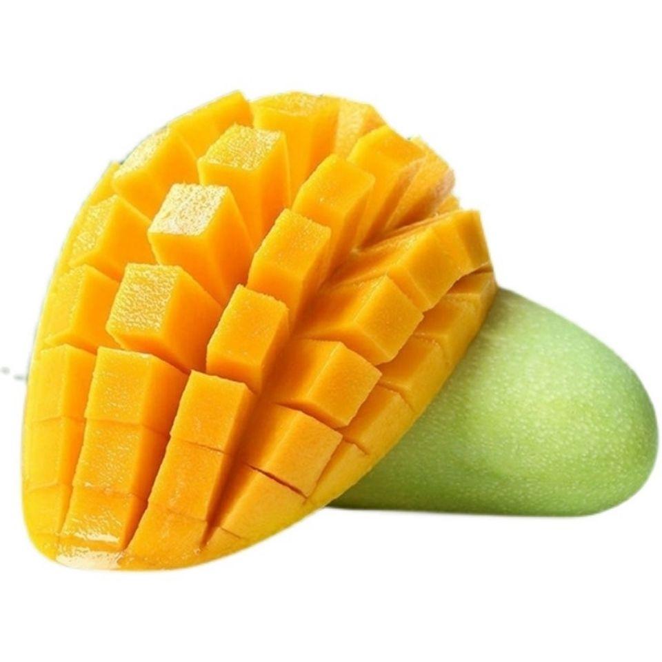 新鲜青芒当季热带水果 皮薄肉厚香甜多汁芒果玉芒水仙芒非贵妃芒