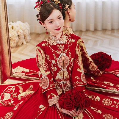 9557/秀禾服2021新款结婚新娘女中式嫁衣显瘦敬酒服礼服秀和服春秋秀禾