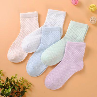 1-10岁儿童袜子夏季薄款男童女童中筒袜网眼透气春秋款宝宝棉袜子
