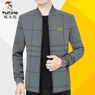 啄木鸟外套男春装夹克2021新款棒球服休闲夹克衫中老年男装上衣