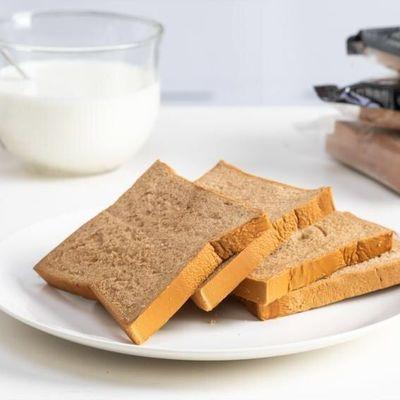 黑麦全麦吐司切片早餐面包无蔗糖粗粮面包营养饱腹代餐