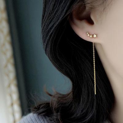 37157/渐变3颗星星耳线五角星锆石超美流星显脸瘦的耳线流苏耳饰品礼物