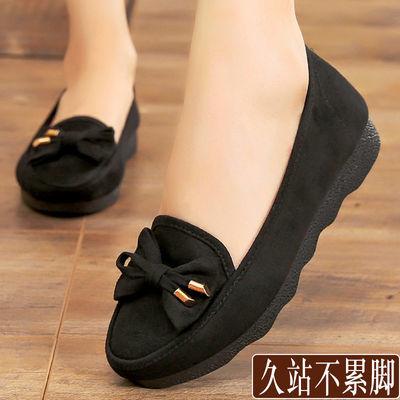 大码女鞋平底北京老布鞋新款防滑平鞋软底舒适上班工作2020春夏鞋