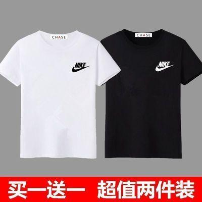 【100%纯棉】【买一送一】夏季短袖T恤男士宽松大码潮流男装半袖