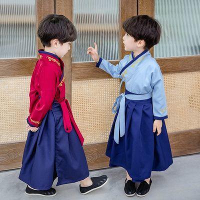 93414/汉服男童春秋唐装儿童中国风全身套装古装超仙公子少爷国学服