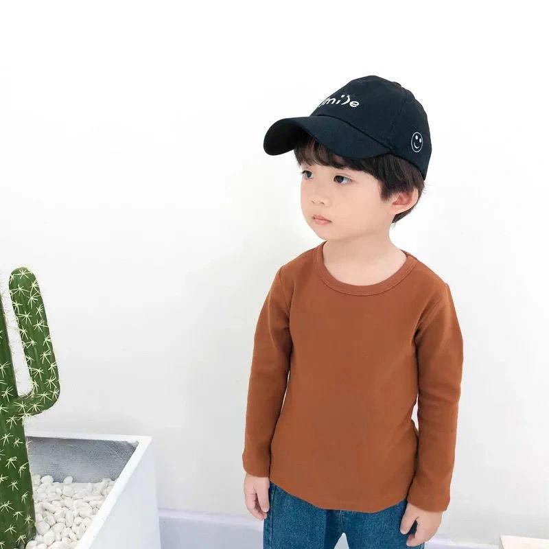 韩版儿童古铜色蓝色打底衫