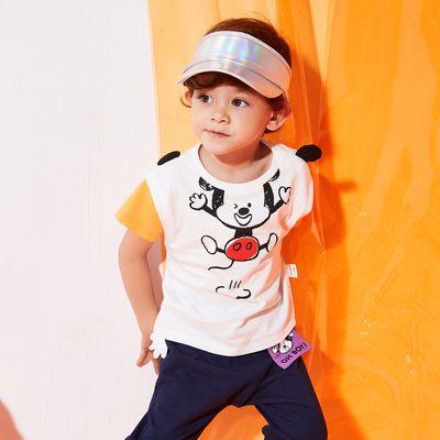 76434/Moomoo童装男婴童趣味米奇针织短袖T恤