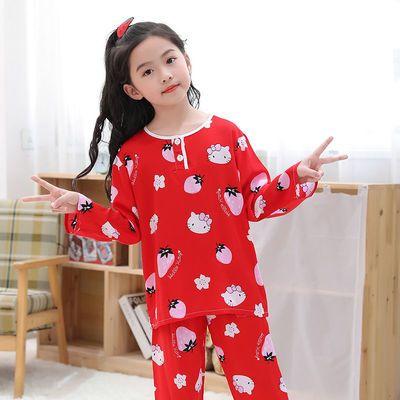 夏季儿童睡衣棉绸男童女童小孩小宝宝薄款绵绸空调卡通家居服套装