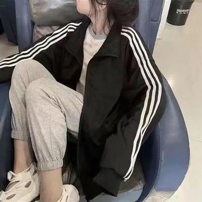 63298/2021新款女生外套女ins韩版宽松学生秋季薄款社会潮牌bf风夹克